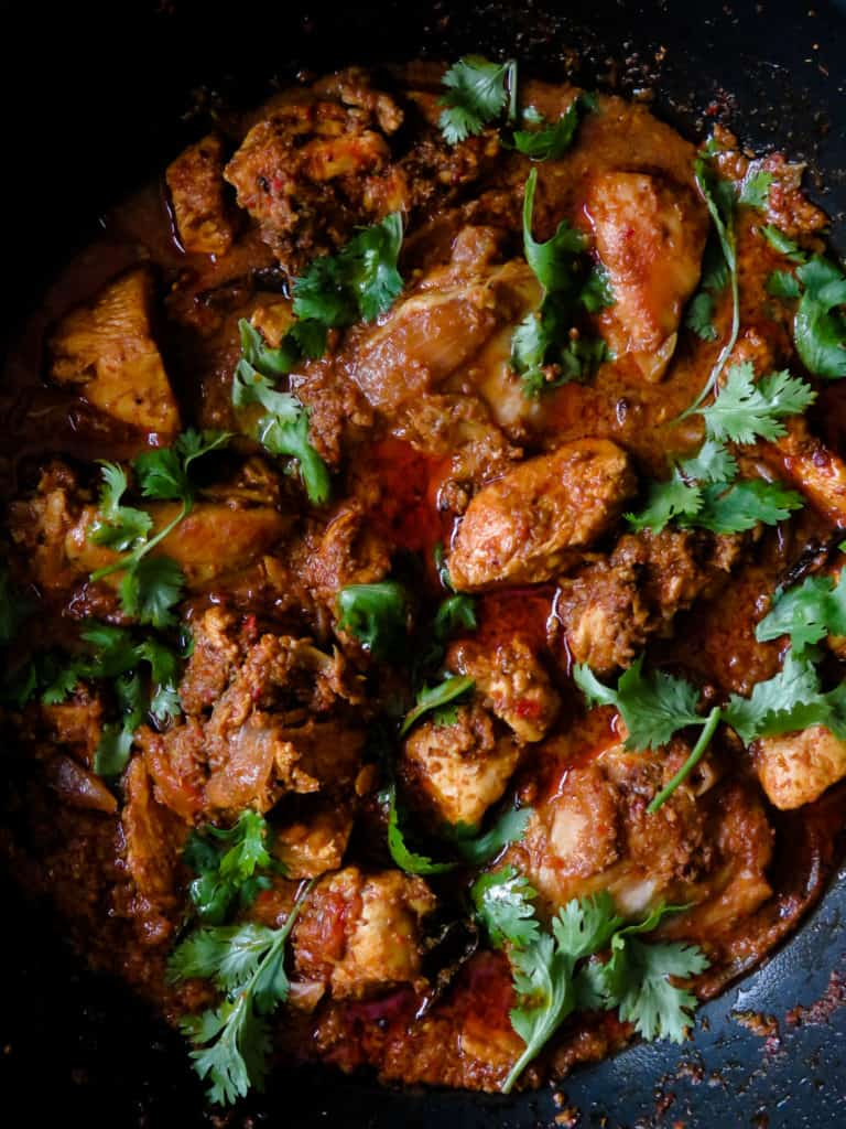 Classic chicken Chettinad- make a pot of this curry and taste a little bit of India and Chettinad cuisine right at your home.  elegant, spicy yet sublime in its flavors.