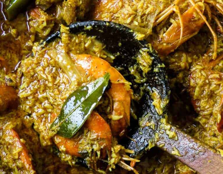 coconut-shrimp (isso curry) . a sri lankan recipe.