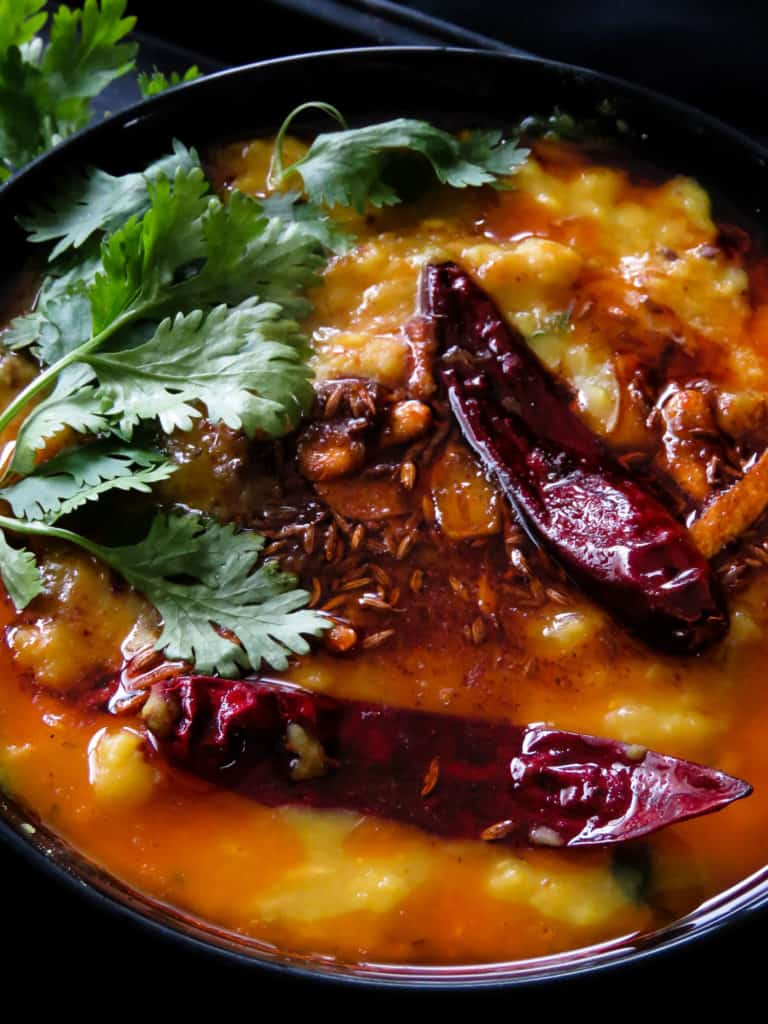 How to make easy-pressure cooker dal tadka(Indian dal fry)-a popular Indian dhalcurrywith mixed lentils. temperedspices make thisordinary lentildishideal forspecialoccasions.
