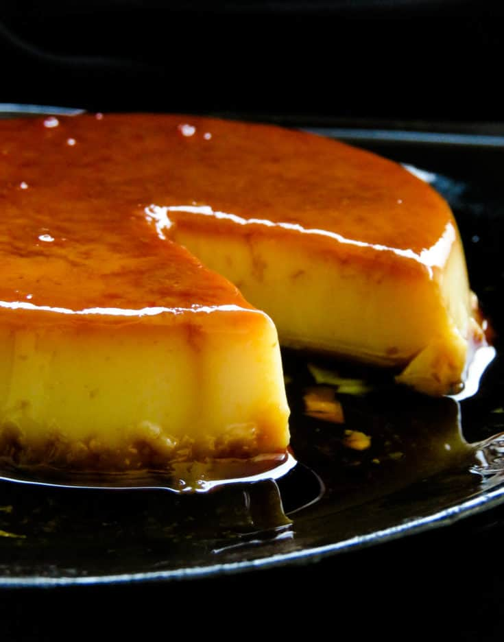 condensed milk baked caramel pudding.