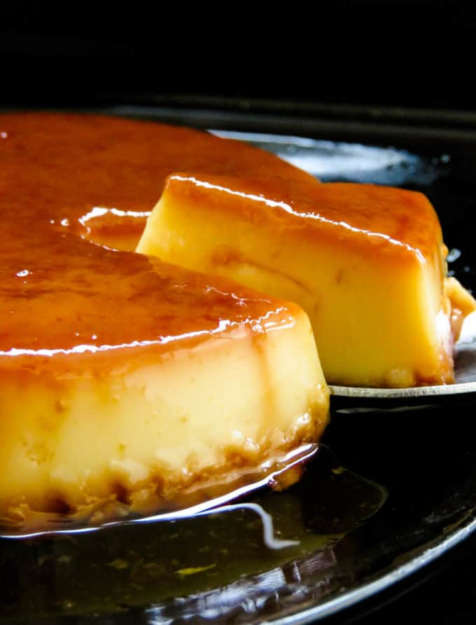 condensed milk caramel pudding- the easiest dessert you'll ever make with just four ingredients. With a light and smooth texture, this popular custard-based dessert is an instant hit at any function or party.#dessert #sweet #east #condensed milk #baked #flan