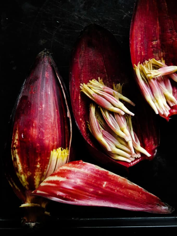 how to clean banana flower step 2