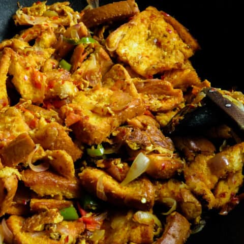 A quick breakfast or a midnight snack here's an easy bread kottu recipe you can make within 30 minutes. all you need is bread and some leftover curries to dish out this one-pot meal.