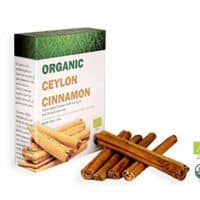 Ceylon Organic Products Organic Ceylon Cinnamon Sticks True SRI Lankan Cinnamon 100g USDA Fair Trade Certified ALBA Cinnamon Sticks Natural Finest Premium Quality Hand Selected Extra Long Fragrant