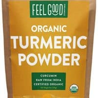 Organic Turmeric Root Powder - 8oz Resealable Bag - 100% Raw w/Curcumin From India - by Feel Good Organics