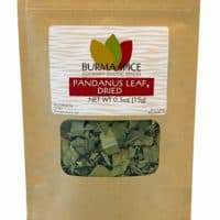 Dried Pandanus Leaves famous in Thai cooking, Indian, and other southeast asian countries as a spice (0.5oz.)