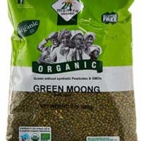 Organic Whole Green Gram (Green Moong Dal Whole)