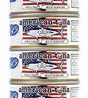 American Tuna MSC Certified Sustainable Pole & Line Caught Albacore Tuna, 6oz Can No-Salt Added, Caught & Canned in America (6 Pack)