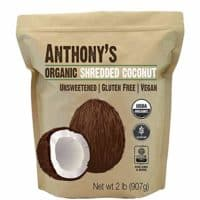 Anthony's Organic Shredded Coconut (2lb), Unsweetened, Gluten Free, Non-GMO & Vegan