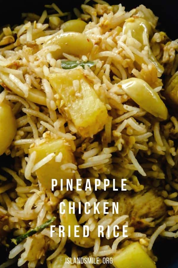 Pineapple chicken fried rice(one-pot meals). Chicken and PIneapple are stir-fried in spices then mixed together with rice to create both a budget-friendly and time- saving one-pot meal.#pineapple #fried rice #diiner #meals #rice #onepot