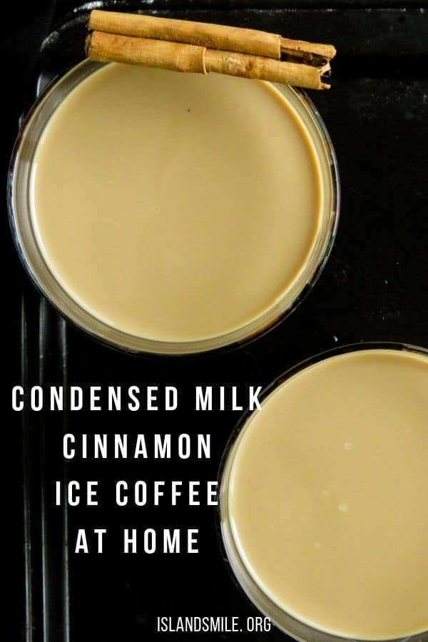 condensed milk with Cinnamon for additional flavor and made with your favorite strong instant coffee, you can now have a jug of ice coffee on stand by for unexpected guests.