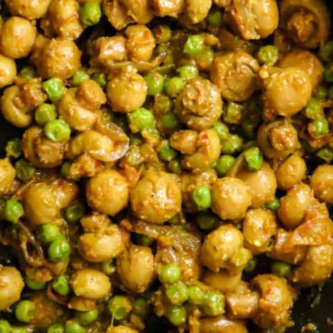 mushroom and peas masala curry.