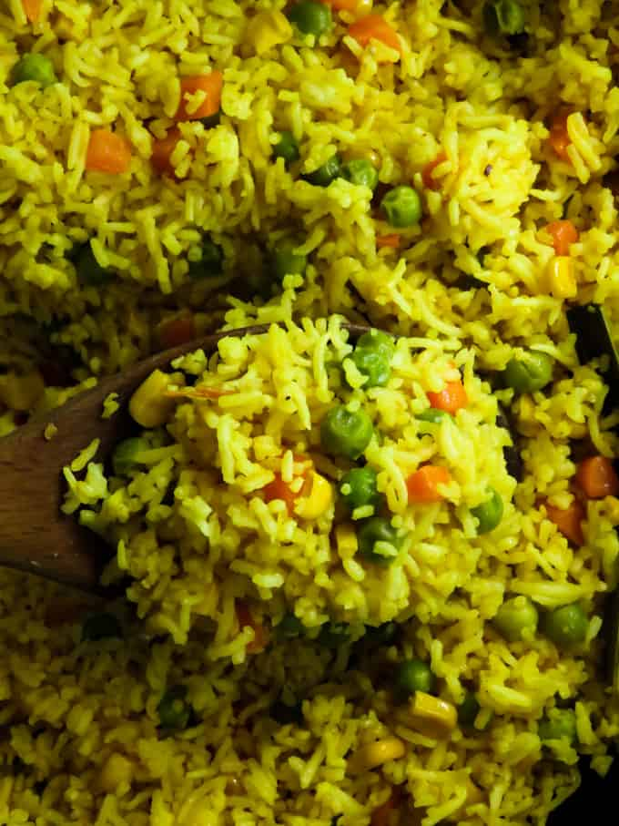 Frozen mixed vegetable rice pilaf. All you need to make this easy peasy mix vegetable rice pilaf is a bag of frozen mixed veggies and some rice.
