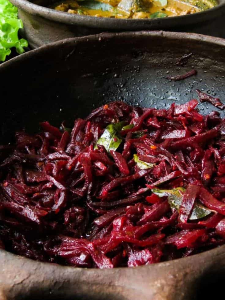 Sri lankan Beetroot Curry(vegetarian, vegan).