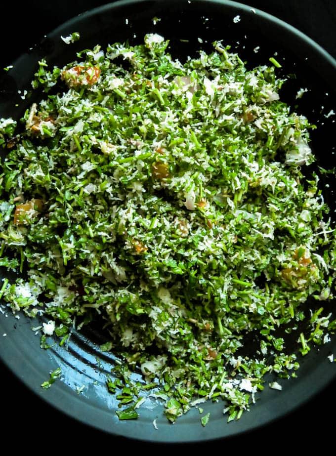 Sri Lankan gotu kola(pennywort)salad.