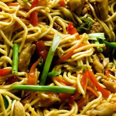 Chicken lo mein(one pot meals).