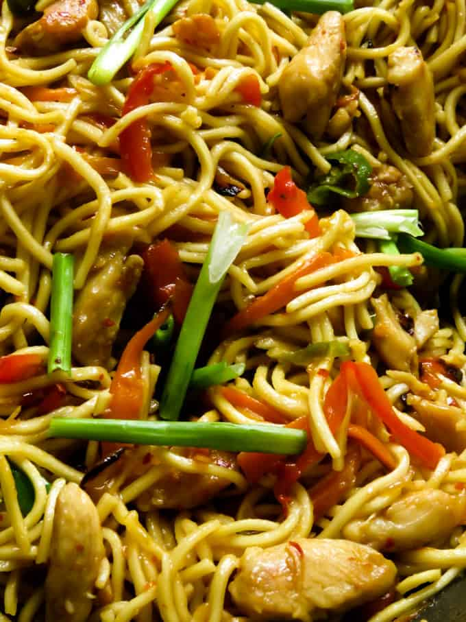 Chicken lo mein(one pot meals).
