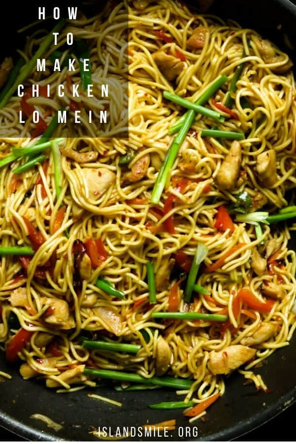 Here's how you make the best chicken lo mein recipe with step by step pictures and instructions. Egg noodles, juicy shallow fried chicken, a mix of stir-frying vegetables and a lo mein sauce made with a few ingredients to make a sweet and slightly spicy sauce.