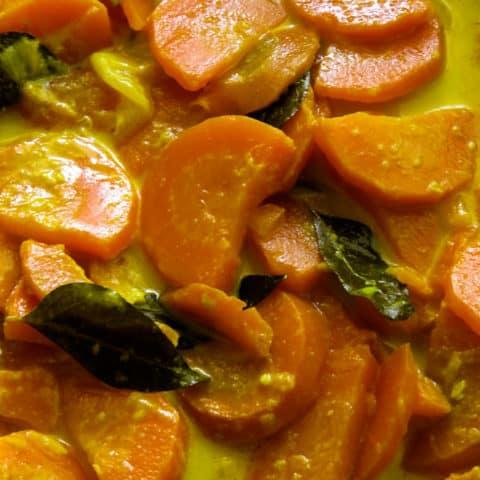 Sri Lankan carrot coconut milk curry(vegan, vegetarian).