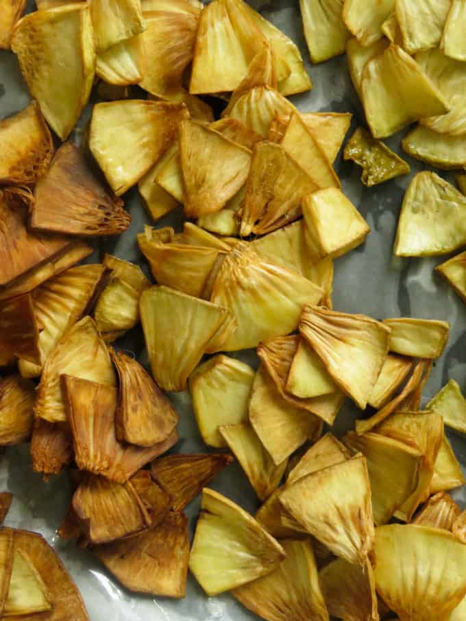 deep fried breadfruit chips.