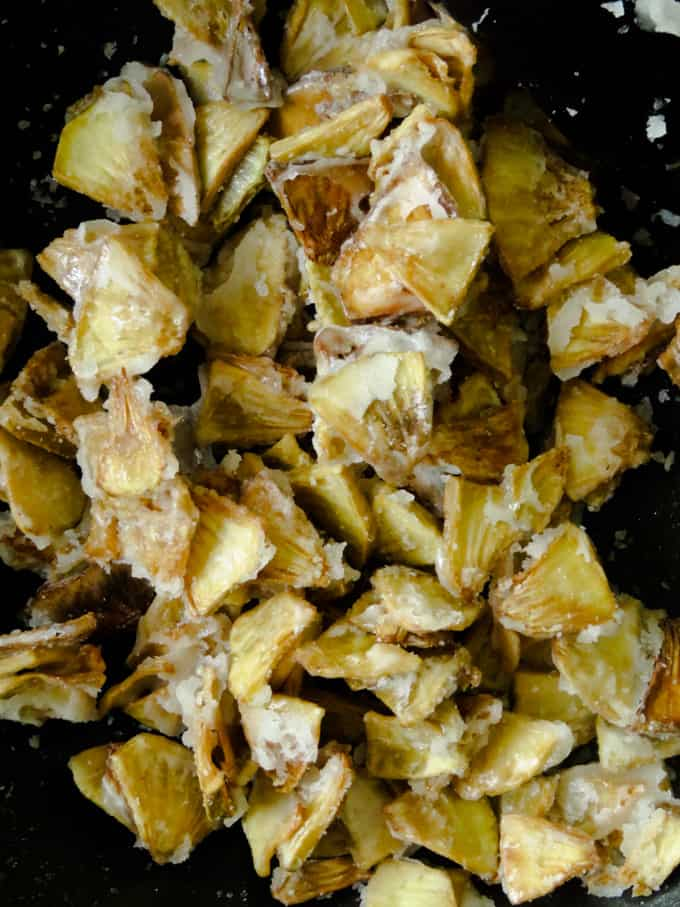 sweet breadfruit chips snack.