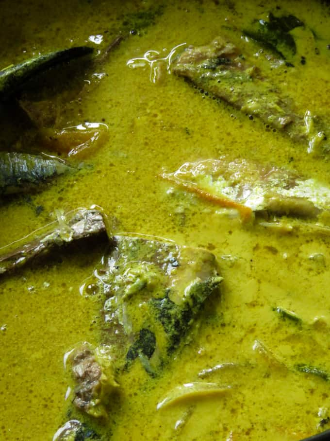 cooked jack mackerel pepper curry.