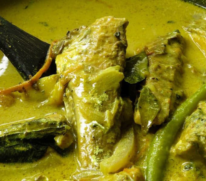 Sri Lankan pepper fish curry.