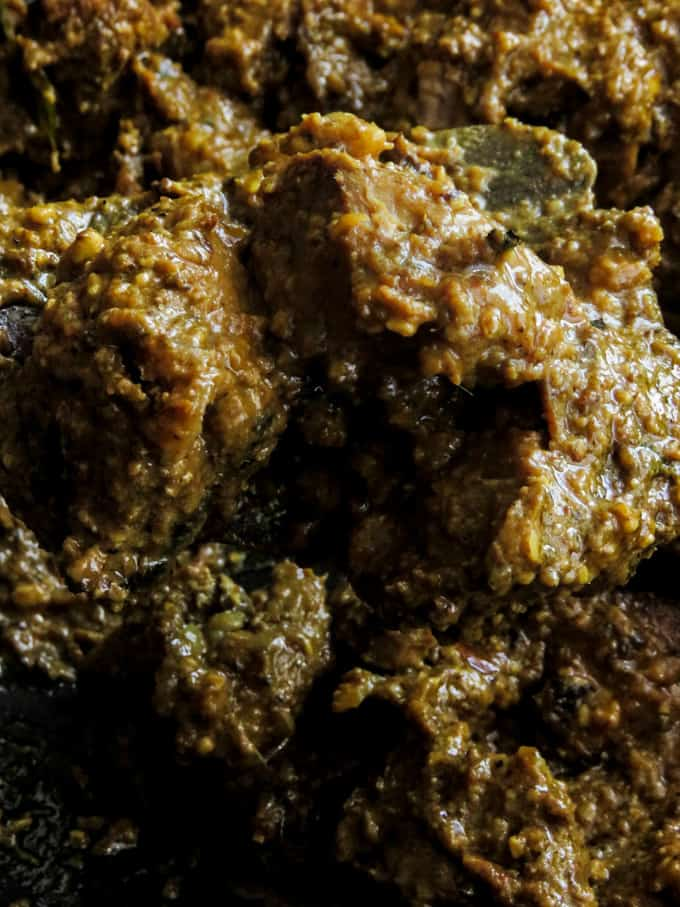 beef korma curry(slow cooked Indian beef curry).