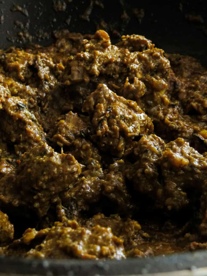 image of beef korma curry.