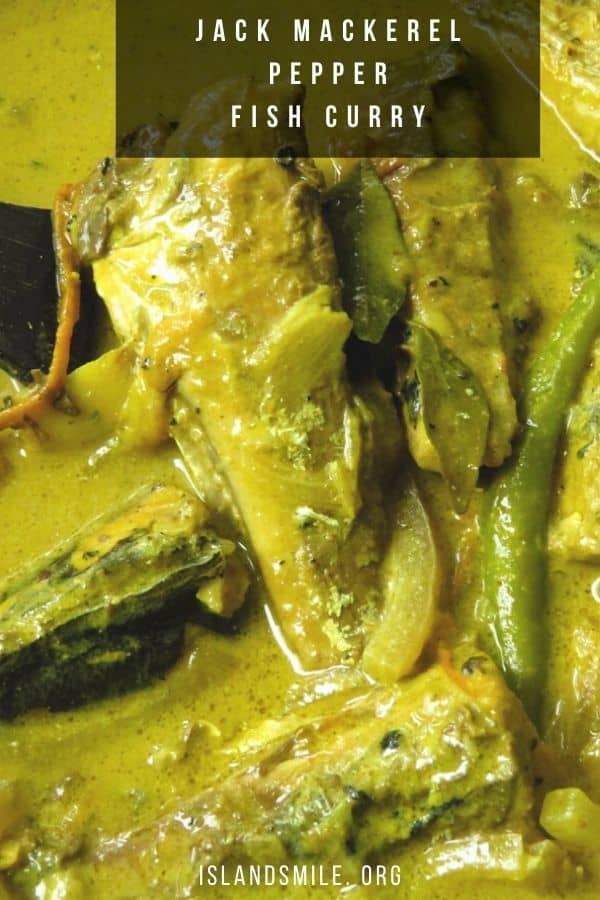 Sri lankan pepper-coconut milk fish curry made with canned Jack mackerel. budget friendly and easy to make.