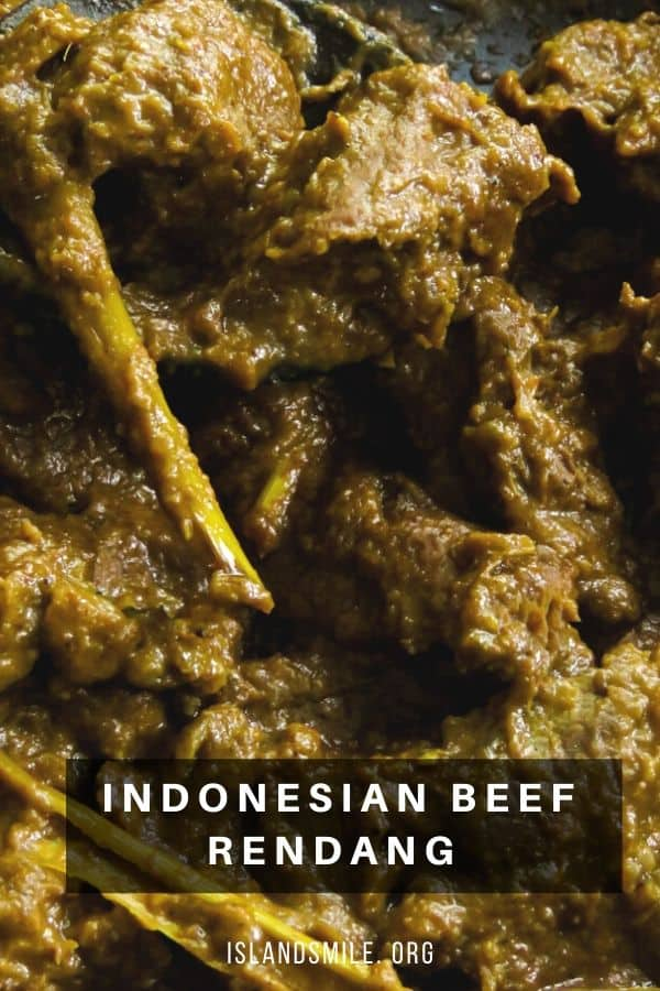 easier than the malaysian rendang recipe with less ingredients. make this easy Indonesian beef rendang curry.