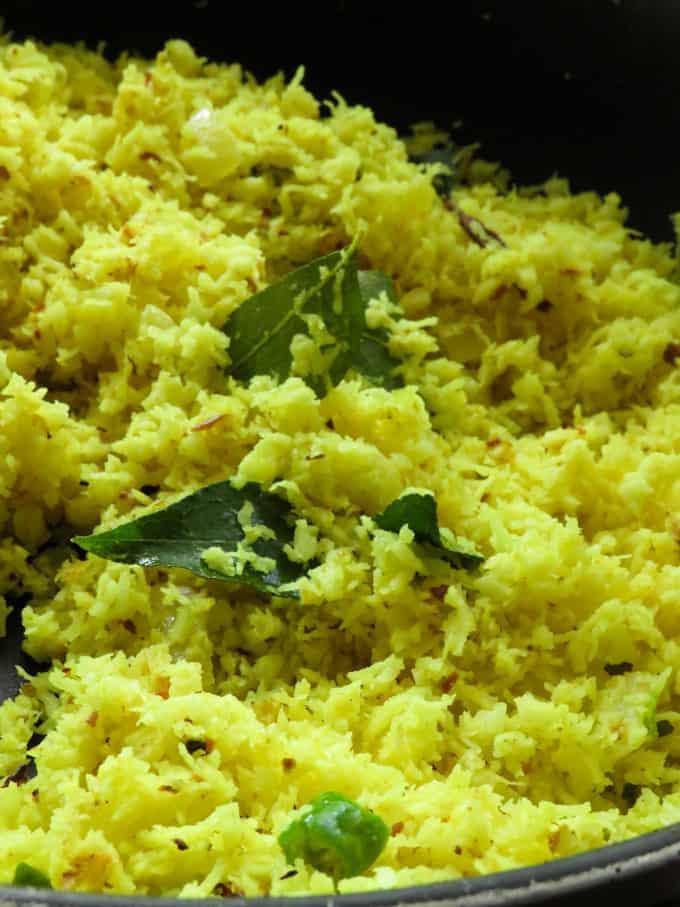 """Sri Lankan yellow coconut sambol""""pol mallum""""."""