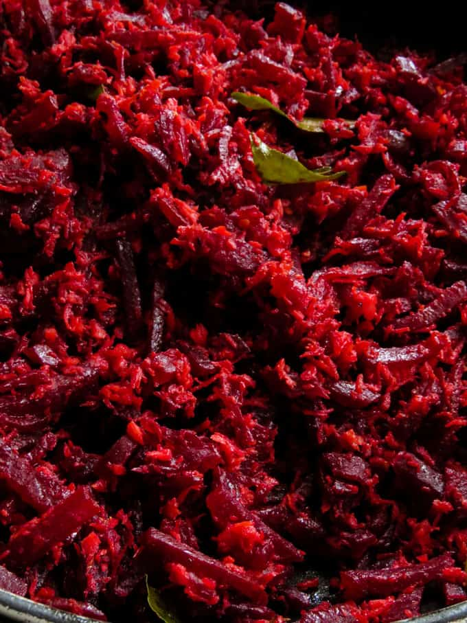 beetroot and coconut mallung.