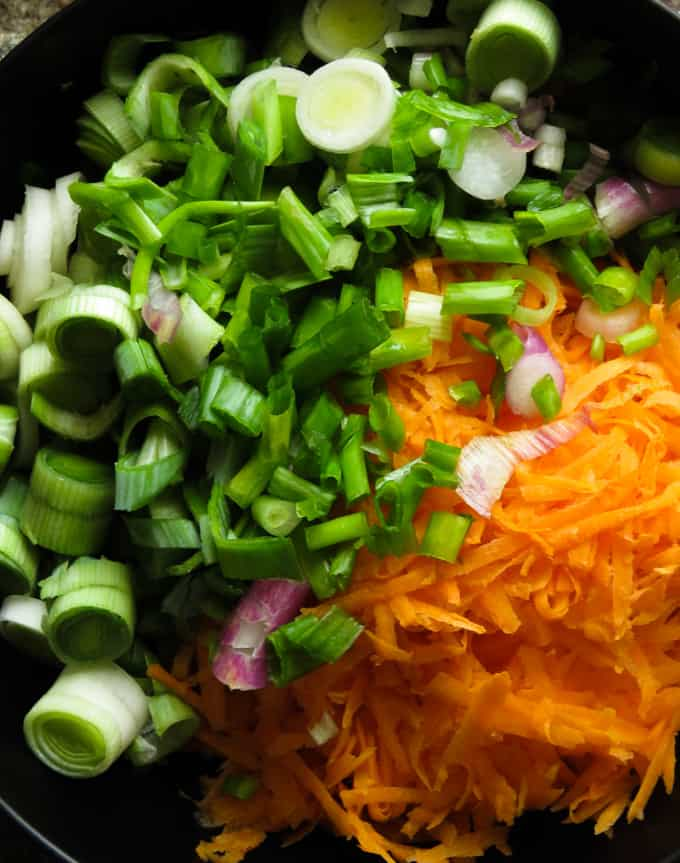 vegetables for the chicken kottu parotta.