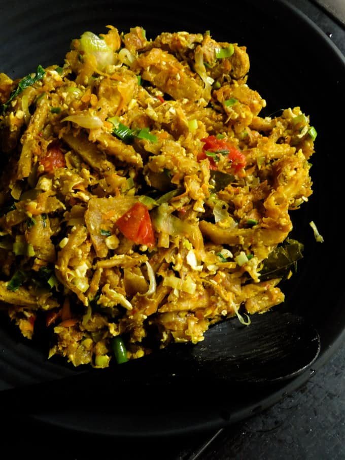 Sri Lankan kottu made at home.