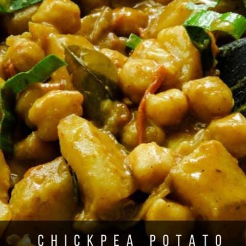 chickpea and potato curry(channa aloo curry).