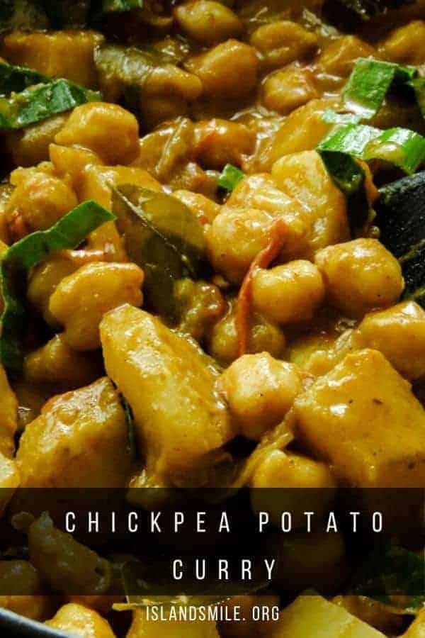 A chickpea potato curry made with Indian curry making ingredients and cooked in a fresh tomato-based gravy. This simple Indian chickpea curry also known as chana aloo curry can be served with rice, naan roti, chapatis or stuffed into pita bread