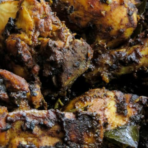 chicken ambulthiyal curry(black pepper-sour chicken curry).