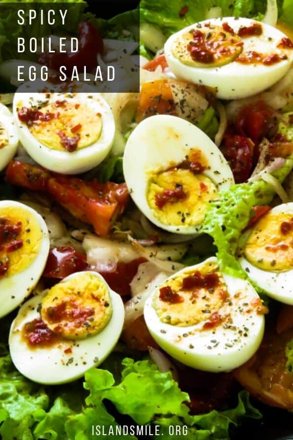 Sri Lankan boiled egg salad recipe.Sri Lankan boiled egg salad recipe.