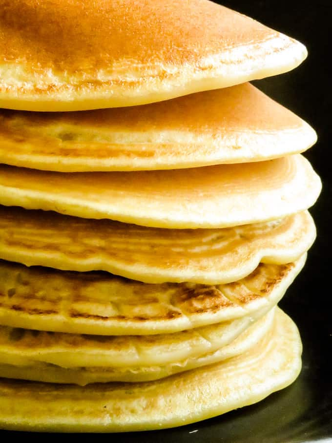 How to make pancakes without milk or eggs.