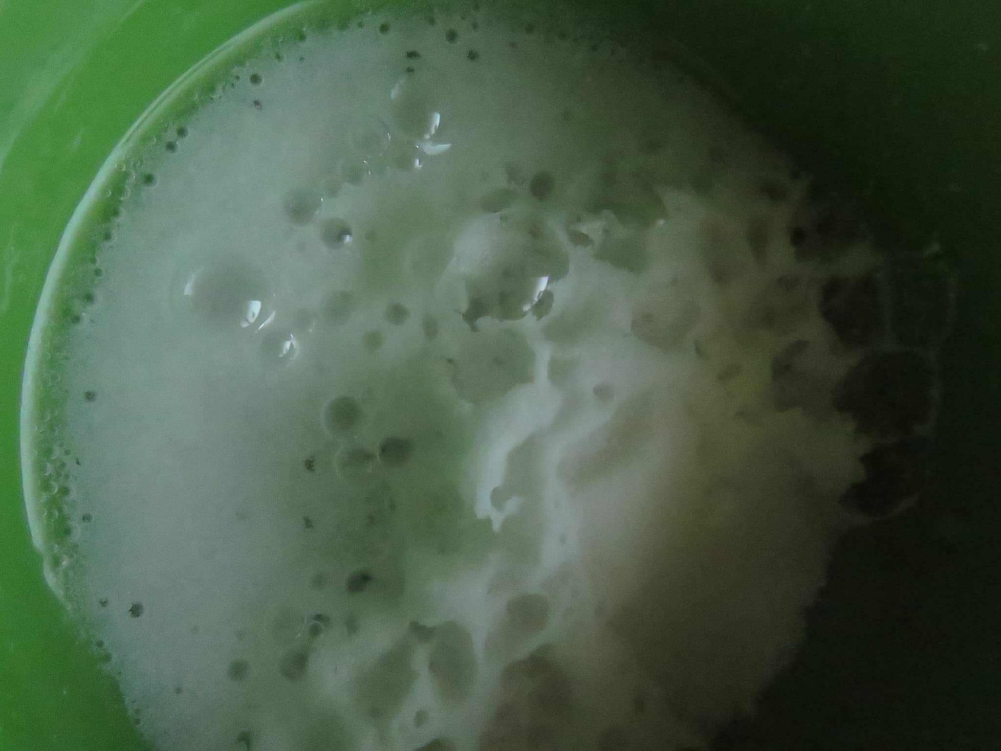 image shows baking soda activated by adding vinegar.