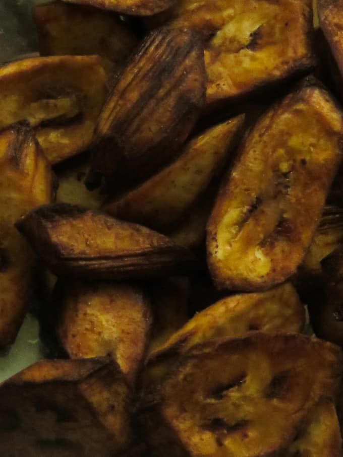 deep fried ash plantain chips.