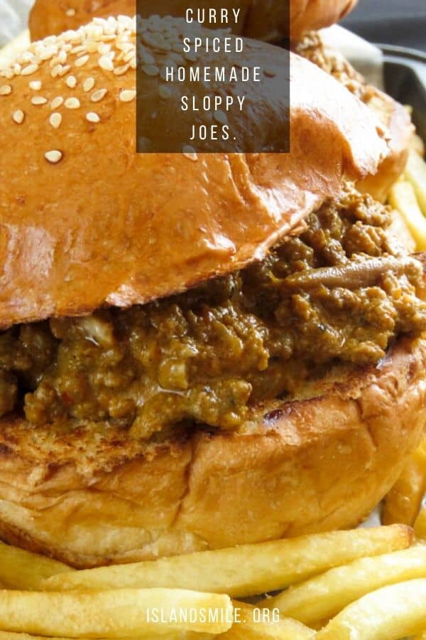 Homemade sloppy joes made with minced beef, cooked with onions, tomatoes, curry powders then cooked with coconut milk to give these sloppy joes the curry-spiced flavors.