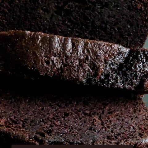 chocolate loaf cake(made with cocoa powder).