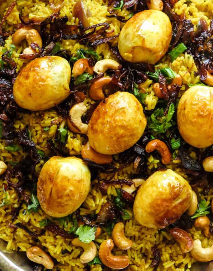 egg biryani (one pot rice dish/stove-top)