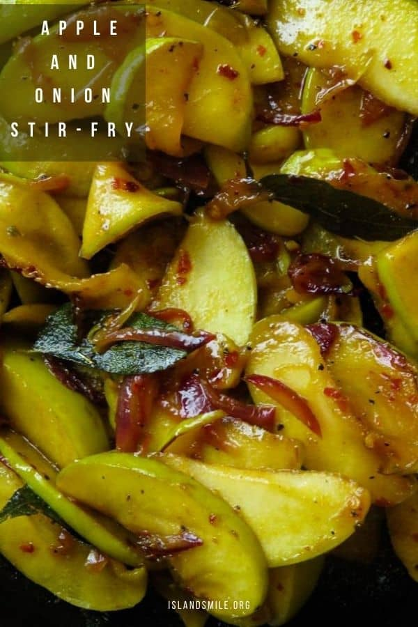 Easy apple stir-fry(vegan.vegetarian). a quick side dish to serve as a vegan vegetarian dish or serve with your favorite grilled meats from chicken, beef to fish.