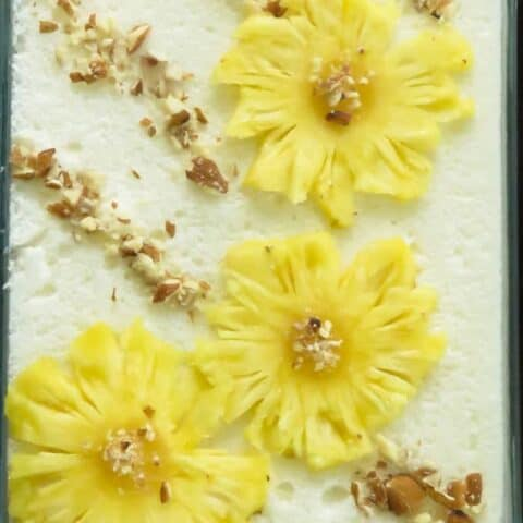 pineapple fluff pudding with condensed milk