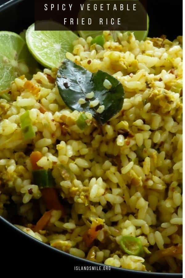 Vegetable Fried Rice Spicy Island Smile