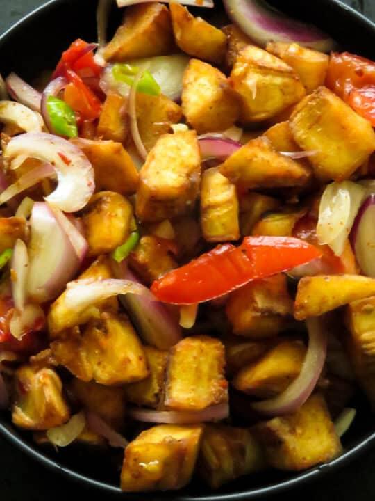 Ash plantain fry salad