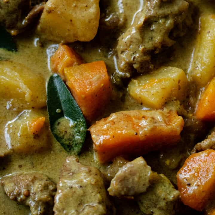 beef stew cooking with water